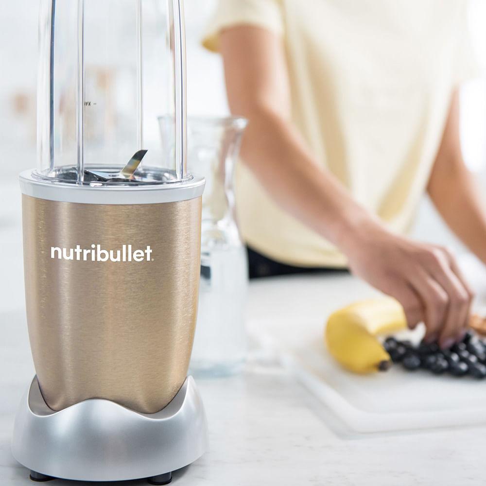 Extrator de Nutrientes Nutribullet 900w Champagne - 9 Itens